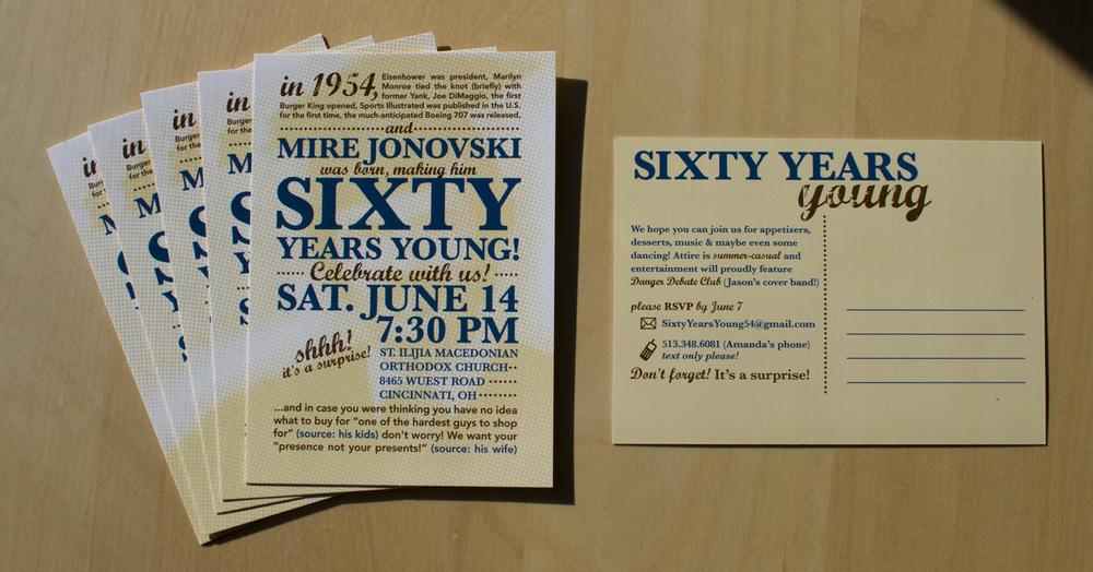 Print 60th Birthday Invite Amanda Jonovski