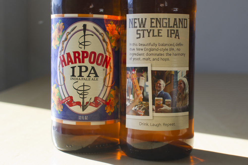 Back Label for Harpoon IPA. Printed on thousands of bottles in the Harpoon Brewery distribution area (basically, east of the Mississippi River)