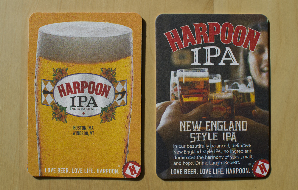 Coasters used in the Harpoon Brewery and at on-premise (bars, restaurants, etc.) accounts.
