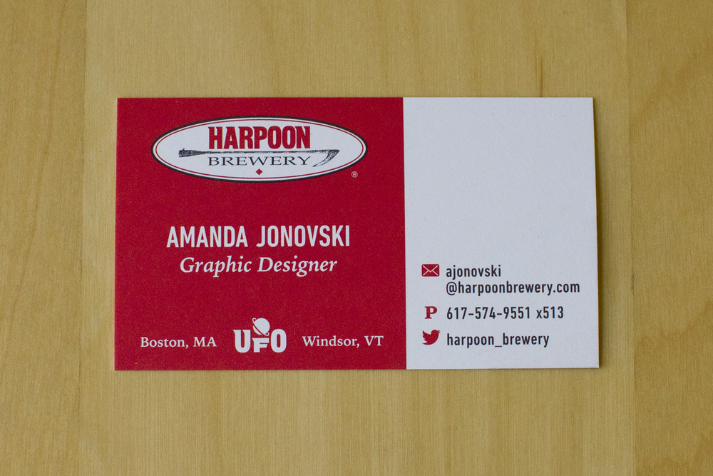 Print: Harpoon Business Cards — Amanda Jonovski