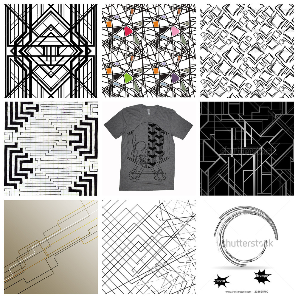 A sample of the inspirational patterns and artwork I collected 2013–2014.