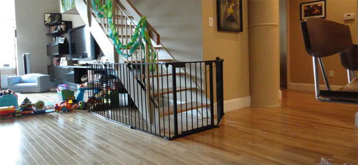 Broadway Baby Gates (black) installed in NYC, Long Island or Westchester County