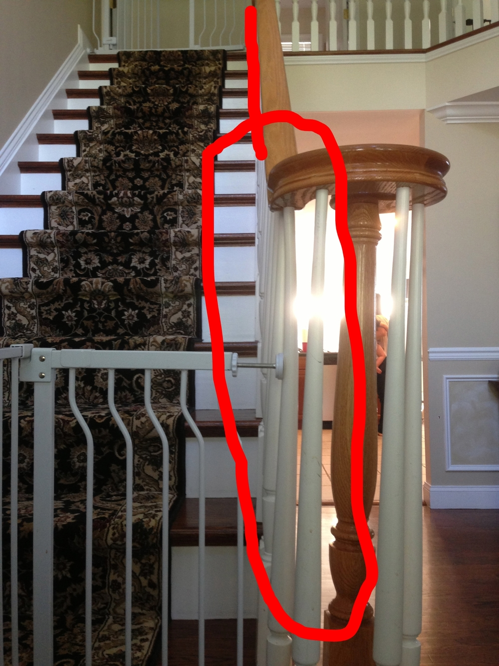 This Customer Did Severe Permanent Damage To Their New Staircase.  U0026nbsp;They Installed A