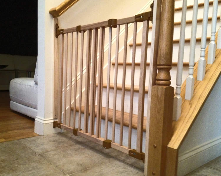 Williamsburg Natural Wood Safety Gate Baby Proofing Service Long