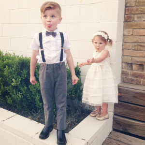 Our little wedding characters