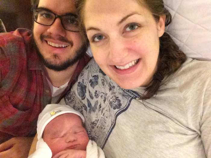 First family selfie of the new Noel family!