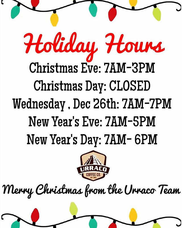 Merry Christmas Eve! Today is the last day to buy a $25 gift certificate and get your drink free! We will be closed tomorrow for Christmas!