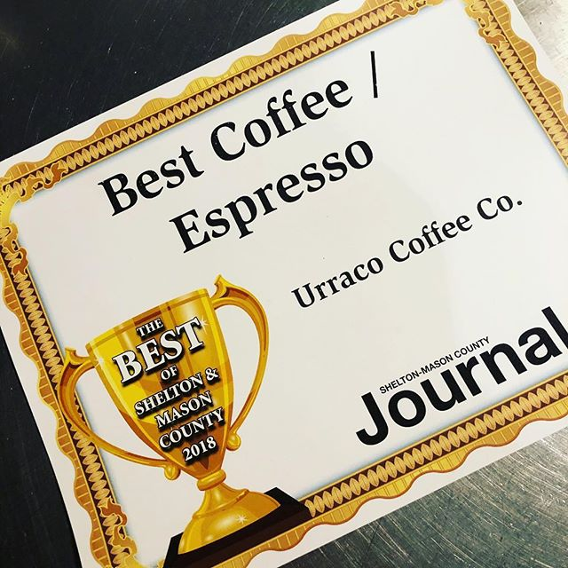 Well look at that 🤩 Thank you to all of our wonderful customers and everyone who took the time to vote for us! #smalltownlove #bestcoffee #urraccocoffeeforlife