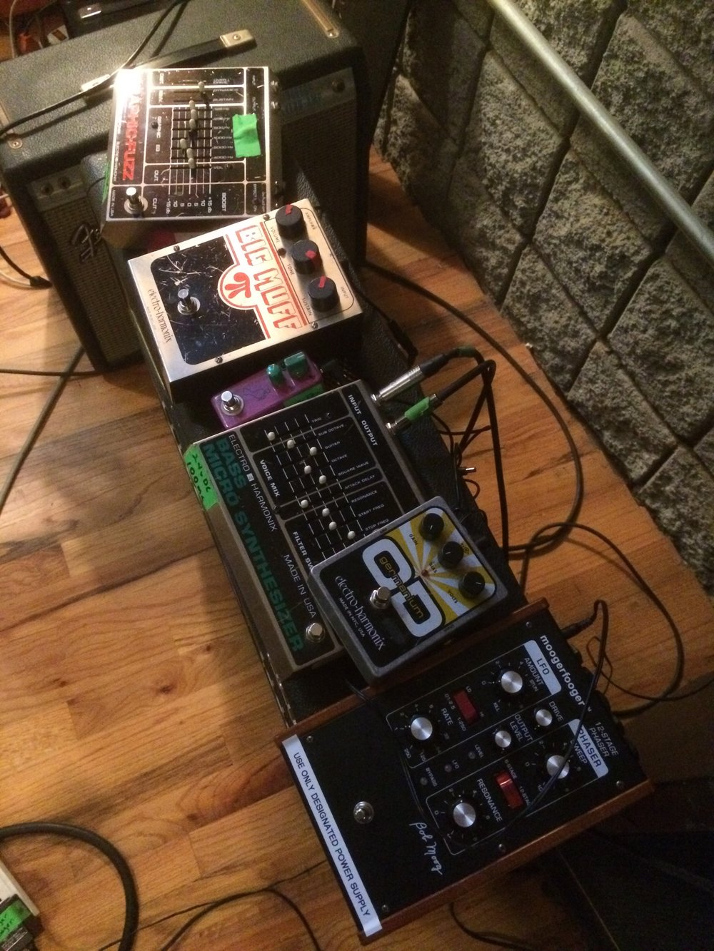 Just a small selection of the pedals auditioned.