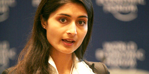 Saadia Zahidi  Head of Gender Parity, Human Capital and Risks, World Economic Forum