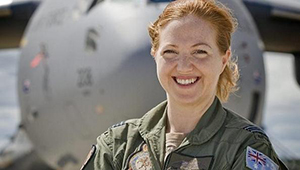 SAMANTHA FREEBAIRN  Squadron Leader and Pilot, Royal Australian Air Force.  Young Global Leader @ World Economic Forum