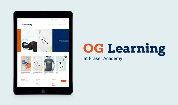Fraser Academy produces its own teaching materials for  Orton Gillingham  educators. We created the line's logo and a shopify online store.