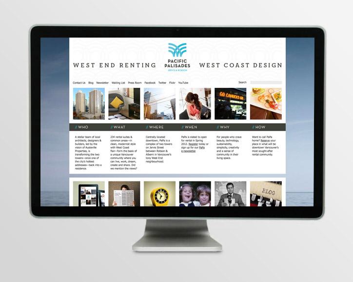 Pacific Palisades website design.