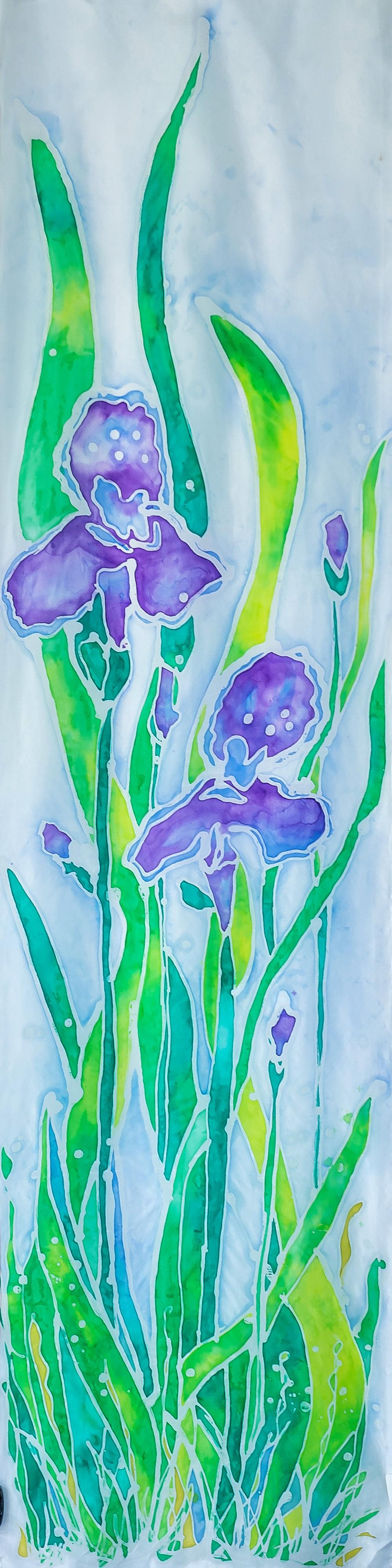 """Irises 14""""x54"""" $75"""