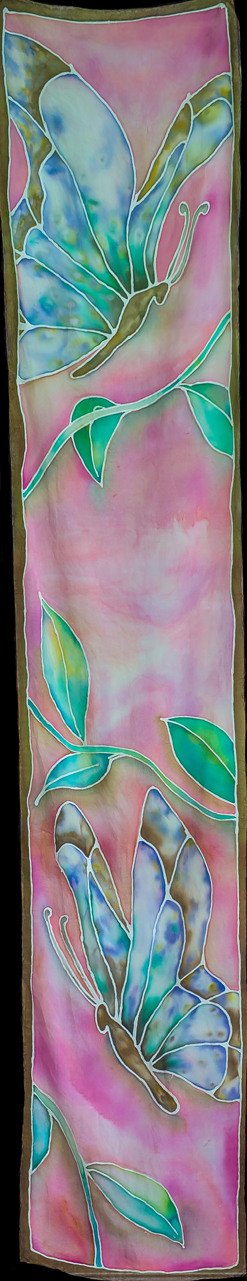 """Pink Butterflies 14""""x72"""" $75"""