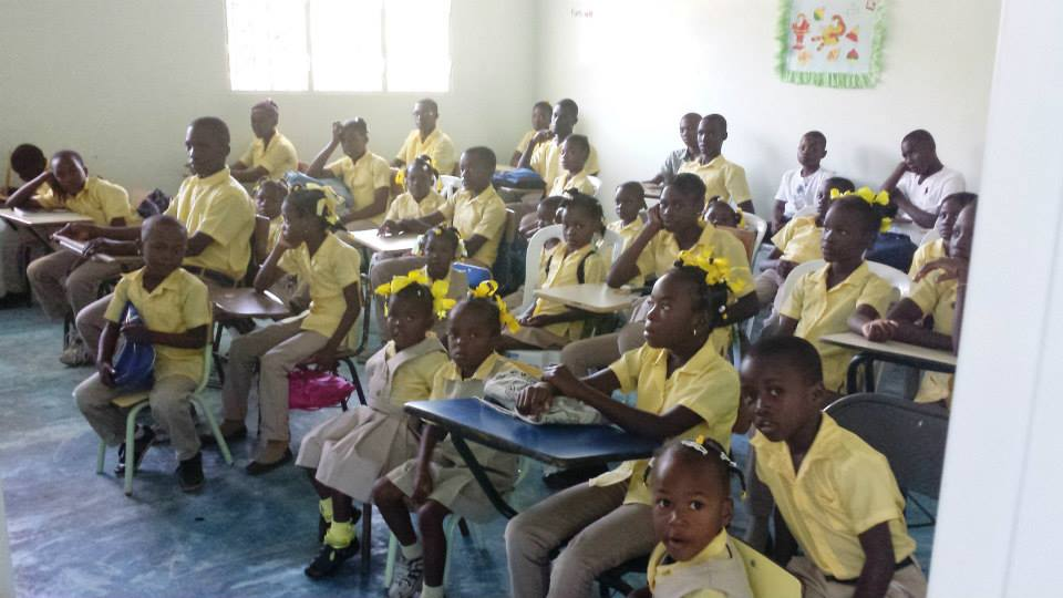 Students in the new Rose of Sharon                Educational Center