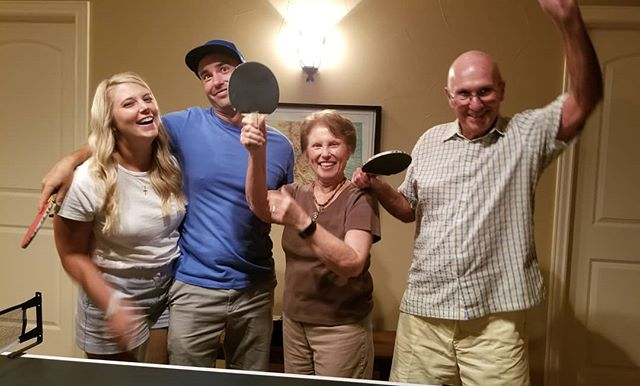 When ypur 80 plus year old grandparents beat you in ping pong