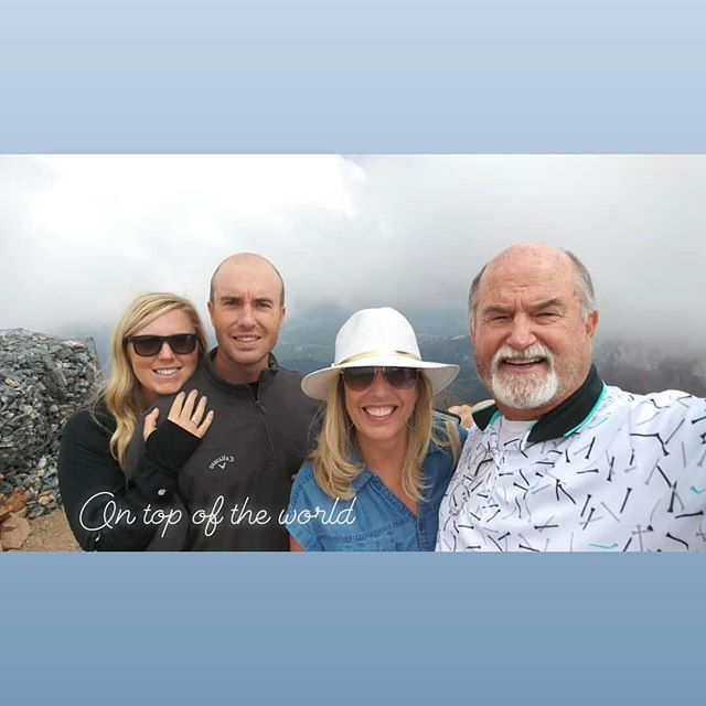 There's a new perspective from up here in the clouds! Great weekend with family.  Happy Birthday, Bekah!