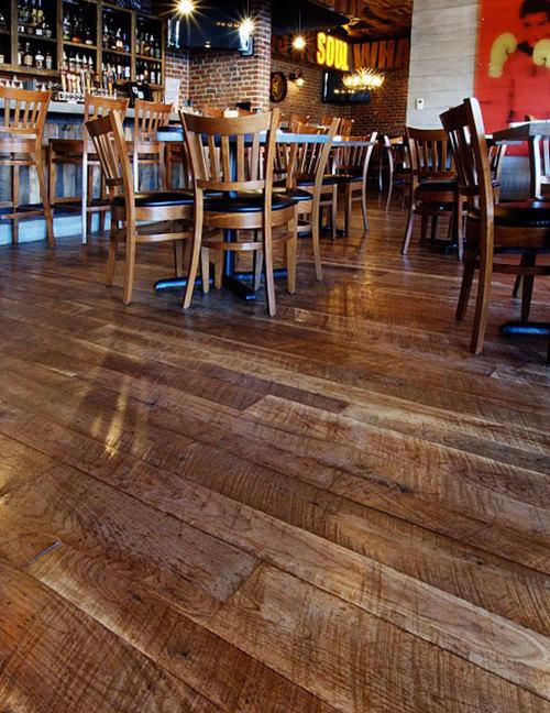 Traditional Gunstock Walnut Boardwalk Hardwood Floors