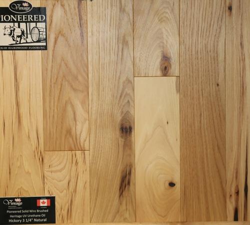 3 14 Wire Brushed Natural Hickory 579 Psf Boardwalk Hardwood