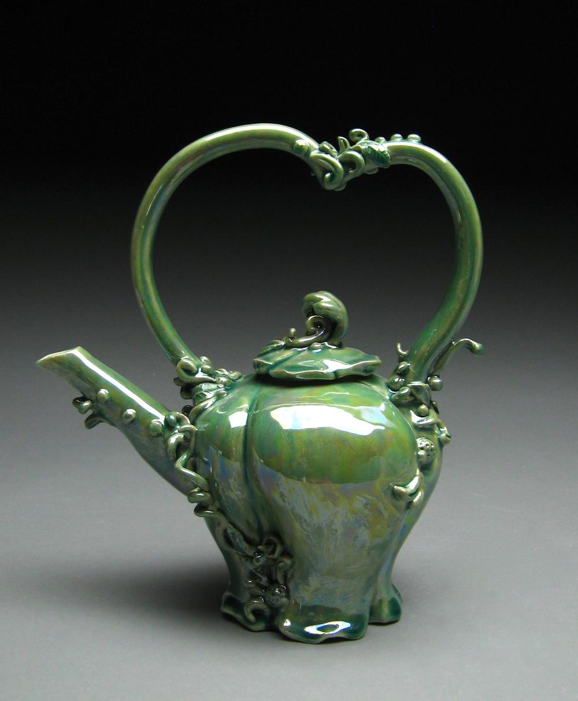 Green Luster Teapot