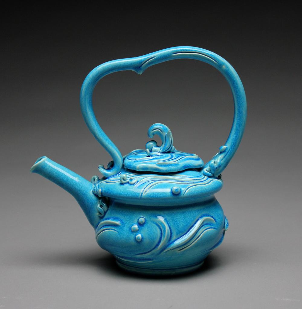 Water Blue Teapot
