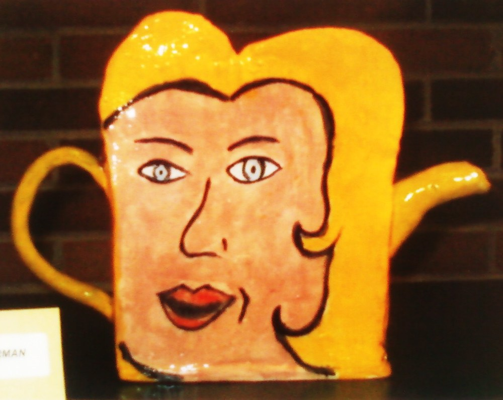 """Pop Art"" Ceramic Teapot"