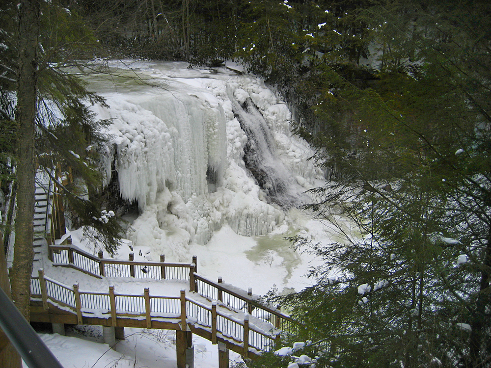 Swallow Falls in winter.