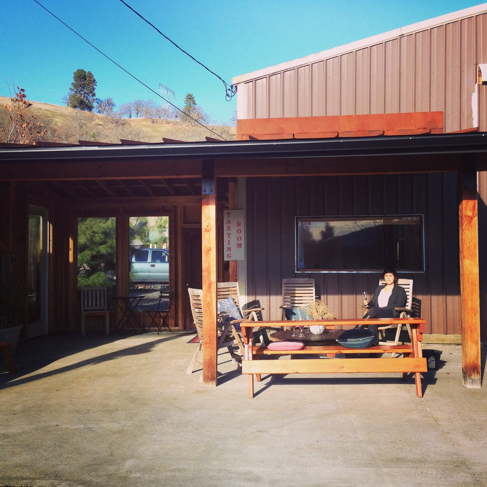The patio at Cor Cellars. Credit: Mat Elmore