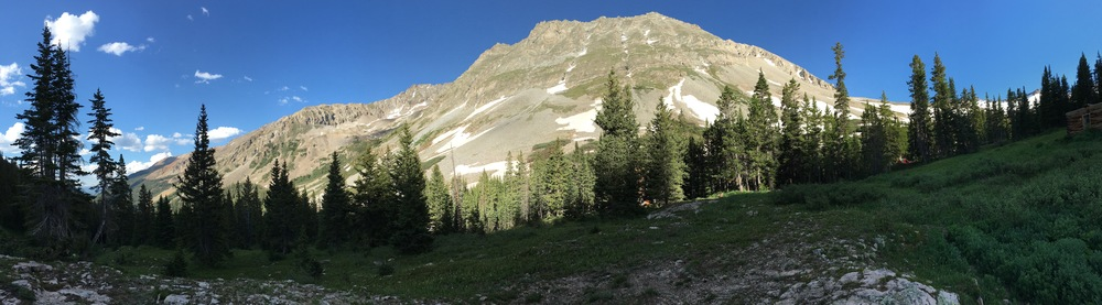 A panorama of the mountains from the hike, because, why not?