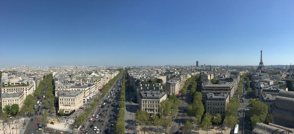 Panorama from the top of the Arc de Triomphe