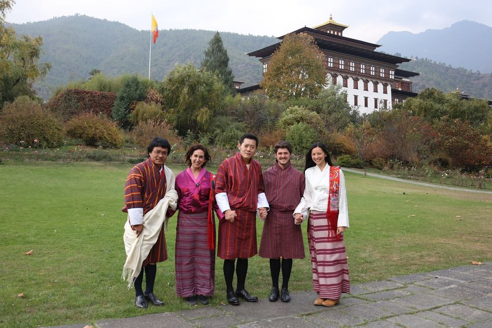 Dorji, Lori, King Jigme Khesar Namgyel Wangchuck, Dan & Lisa (left to right)