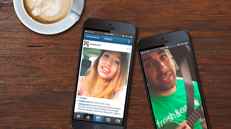 Surprised loyal Instagram fans with real-time video responses.
