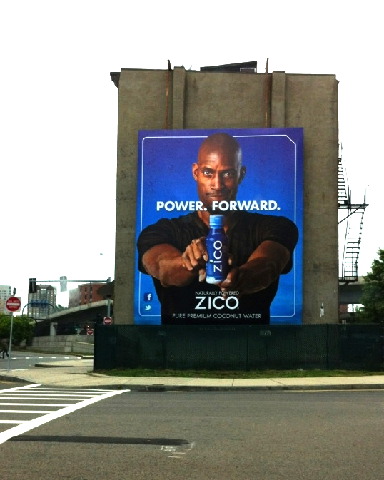 Across from The Boston Garden during the playoffs. ZICO athlete Kevin Garnett.