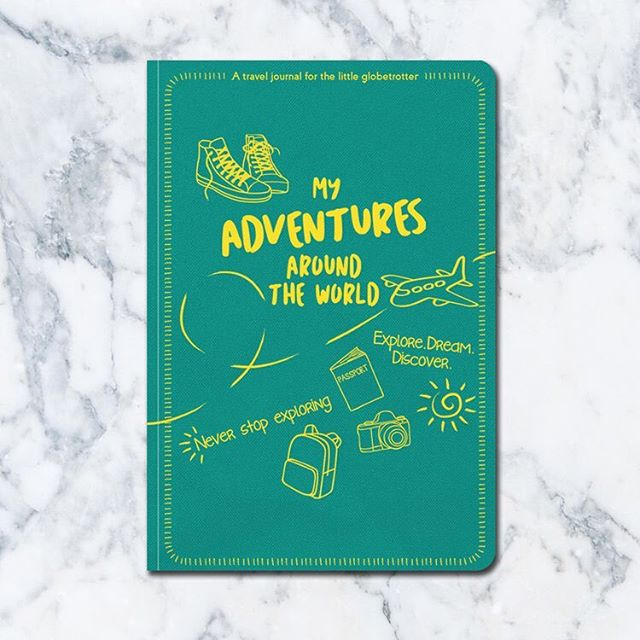 Flip the journal and discover many fun-filled pages inside. The Little Globetrotter's Travel Journal is a must-have travel essential for every kid! Available online and instore now!