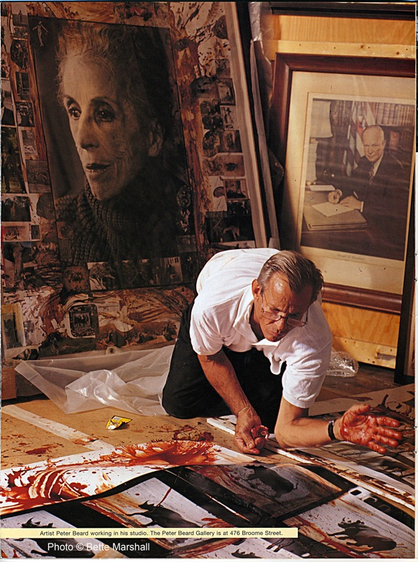 Peter Beard (Scan of tear sheet)