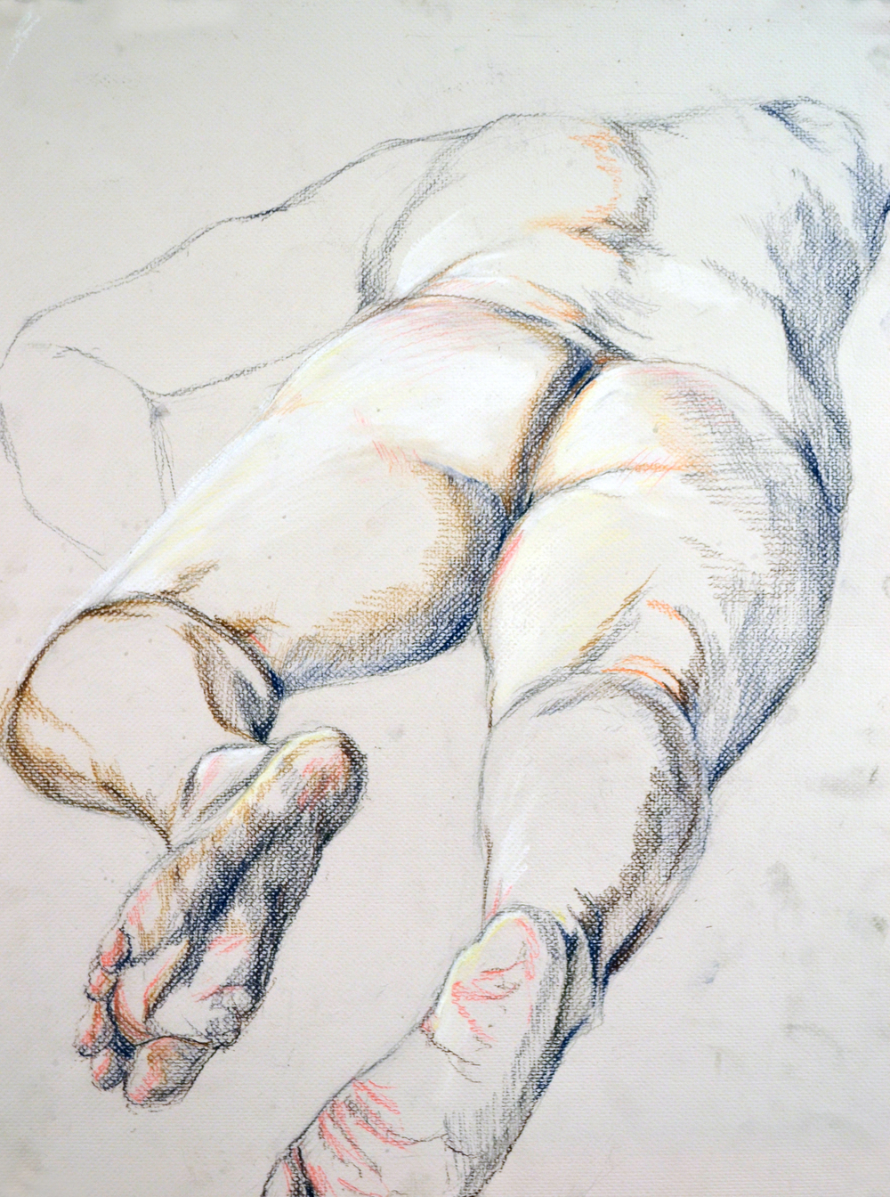 Highschool Figurative Foreshortening Exercise