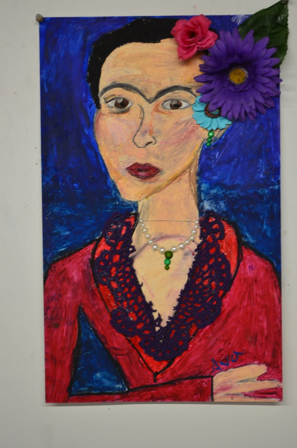 Frida Kahlo Mixed Media Grades 1-4