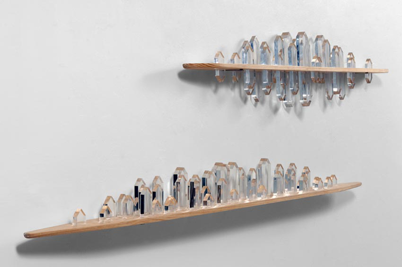 Alejandro Mendoza _ Desolate _ wood  and acrylic wall sculpture _112_ x 42_ x 6_ _2011.jpg