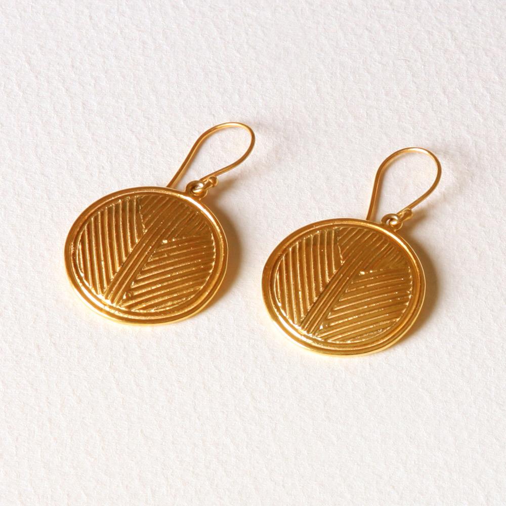 YW-E011  Solid Circle Earrings.jpg