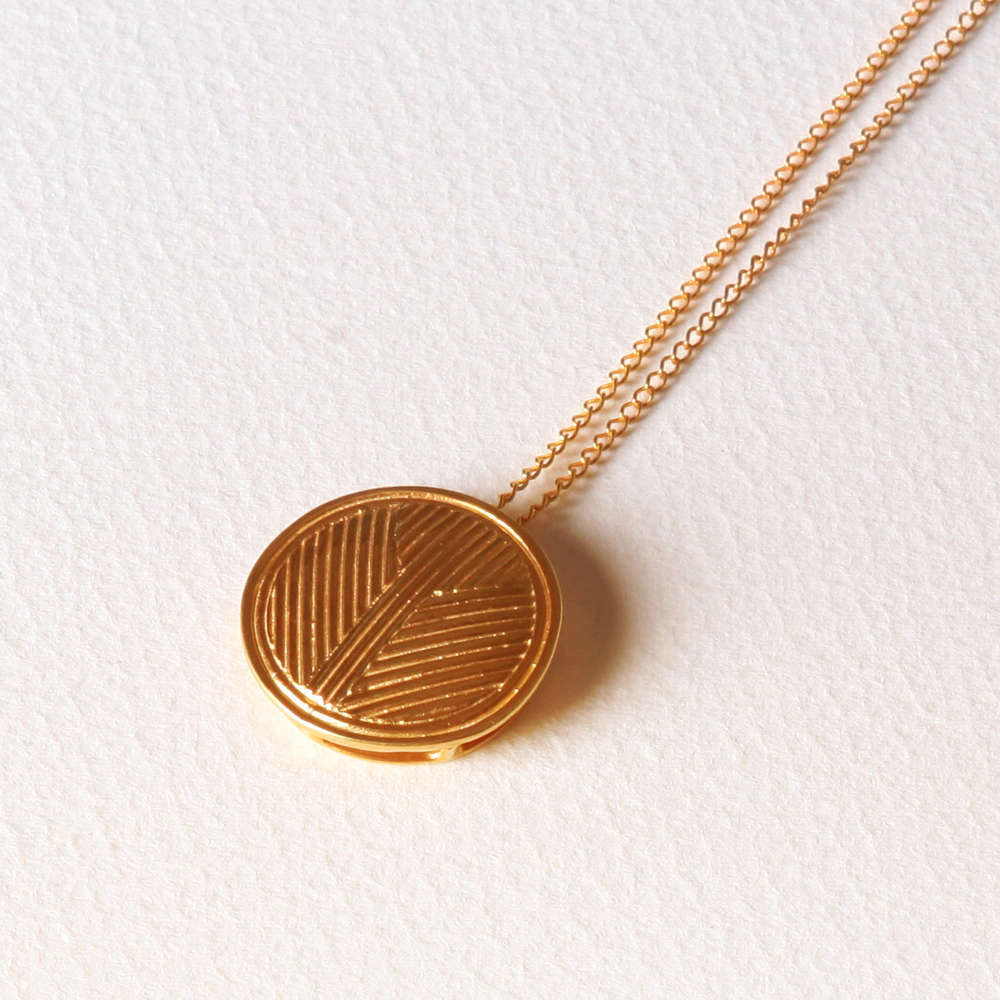 YW-P011  Solid Circle Necklace.jpg