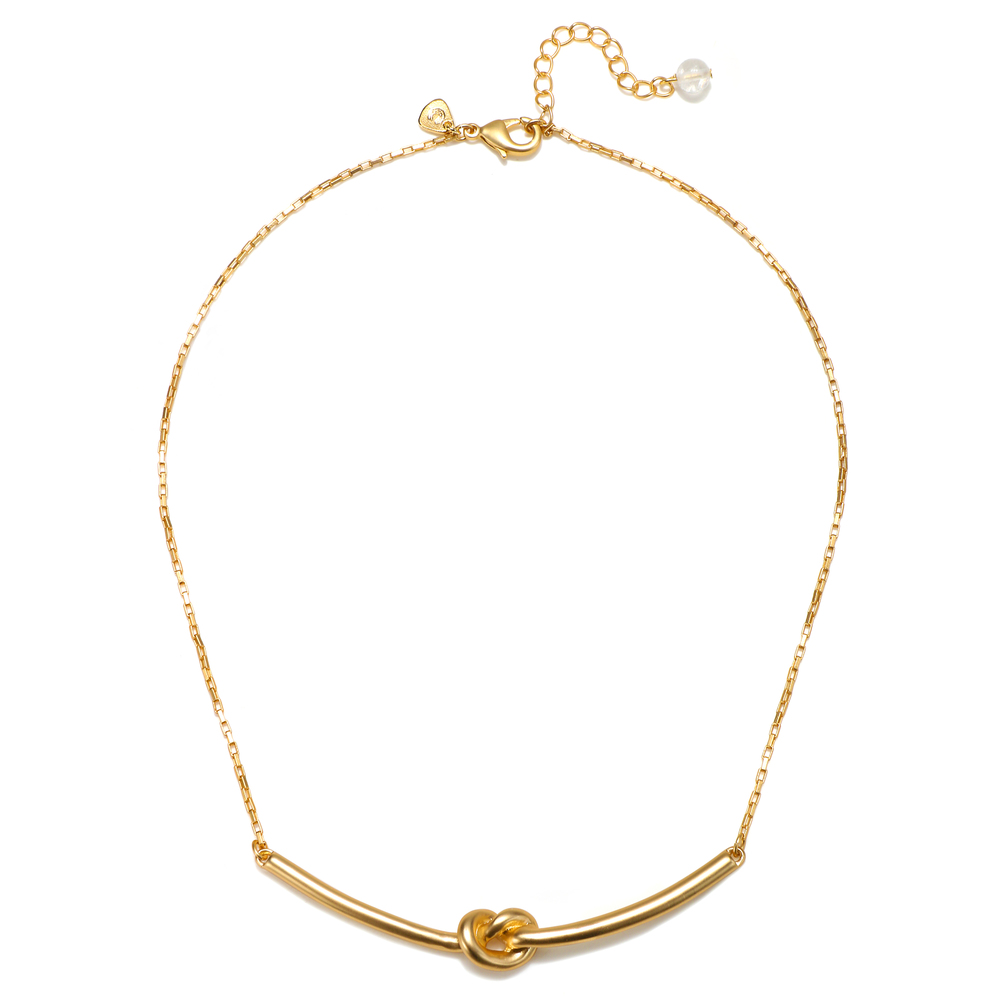 Matte Gold Why Knot Necklace.jpg