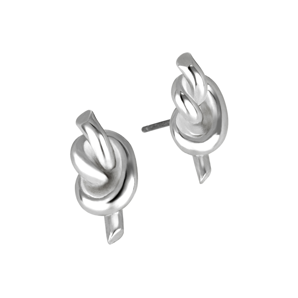 Silver Why Knot Earrings.JPG