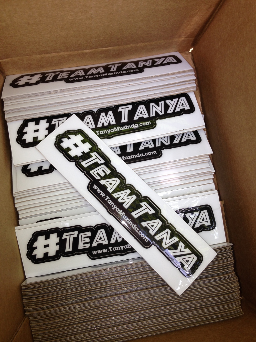 #TEAMTANYA stickers