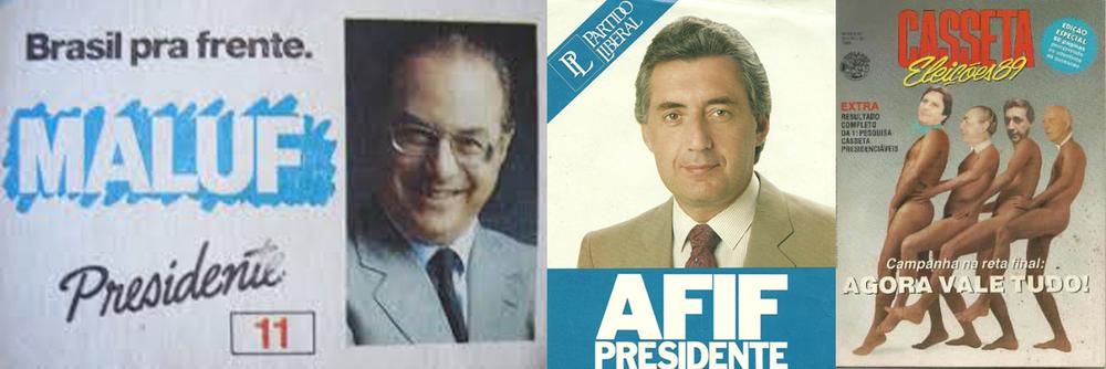 Maluf, Afif e a Casseta. 25 depois, ainda engatados na política nacional.