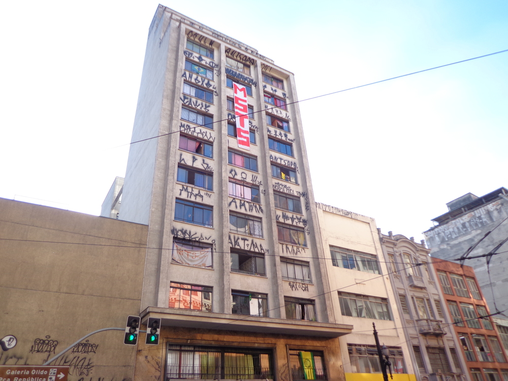 Occupied building on Rua Conseleiro Crispianino, opposite occupied Cine Marrocos and also run by the MSTS