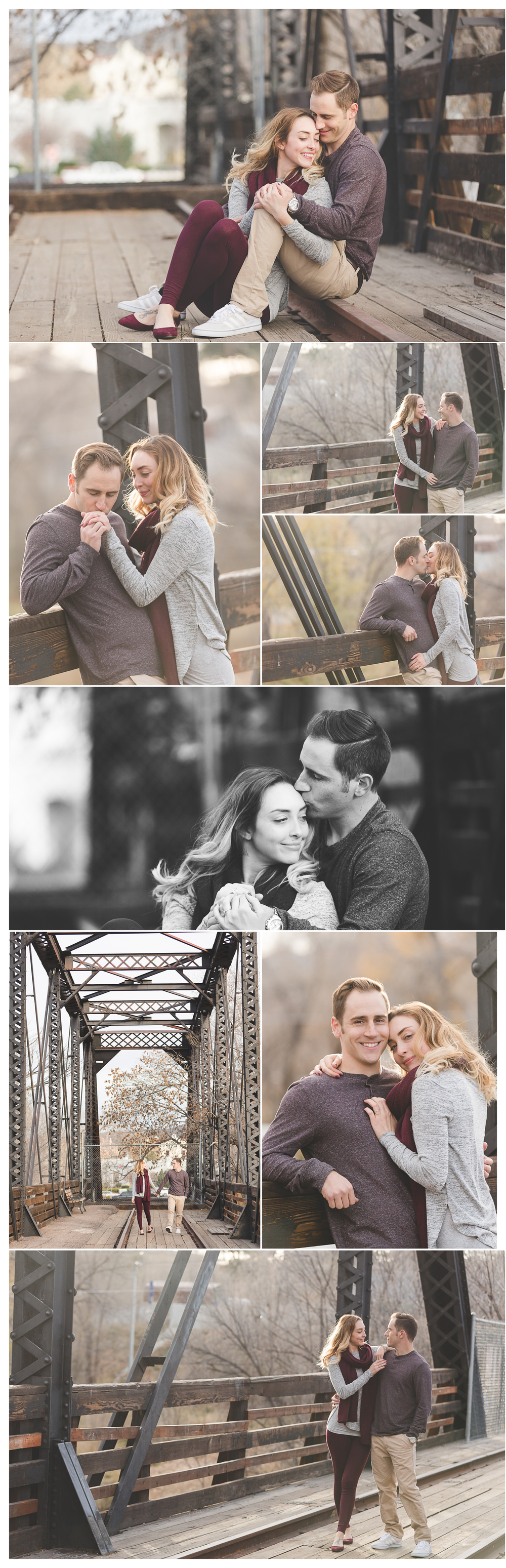 wild iris coffe house prescott engagement photography