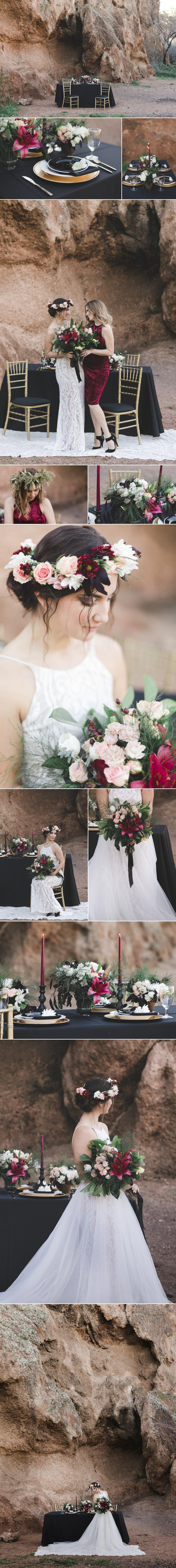 Honey & Shaw: Dark and Moody Styled Bridal