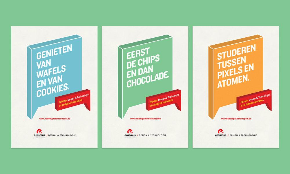 Erasmus Hello Digital Metropole posters