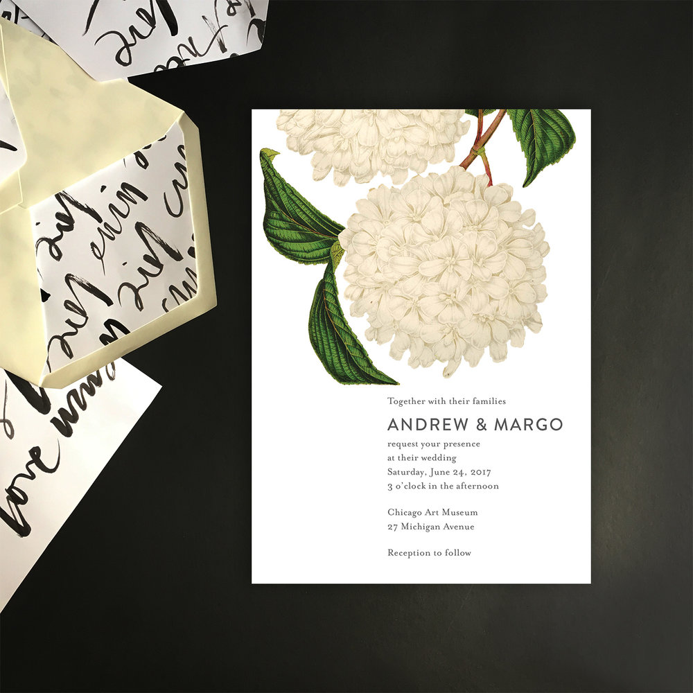 White hydrangea invite with env liners.jpg